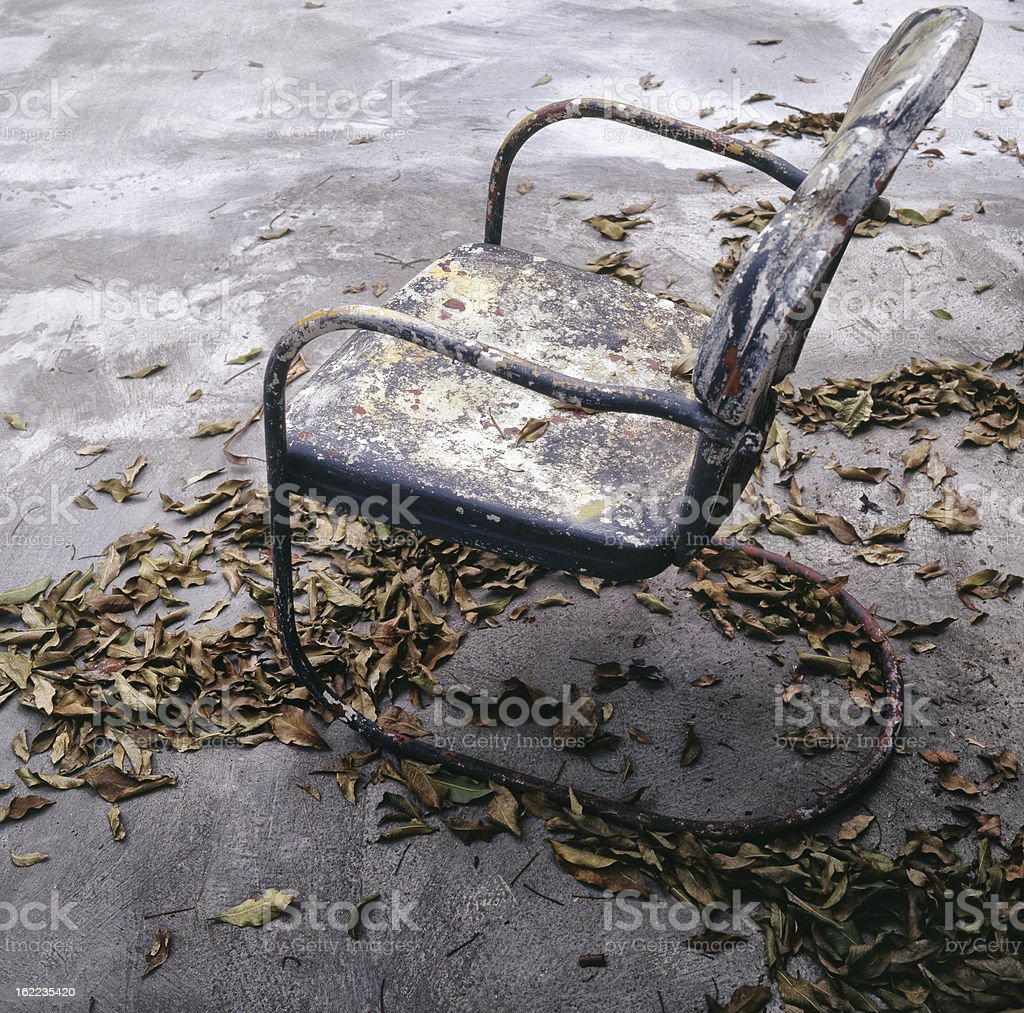 Chair in the garden royalty-free stock photo