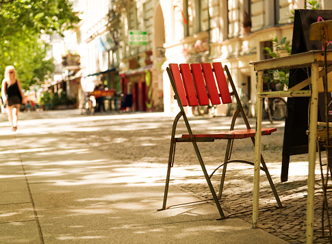 Chair in the street, Prenzlauer Berg, Berlin