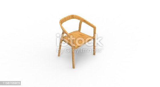 Chair isolated on White 3D Rendering