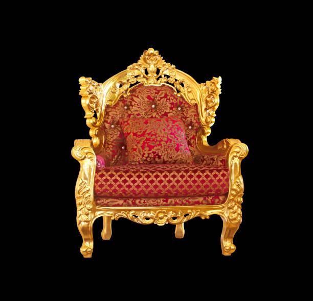 椅子分離高級黒背景 - 王座 ストックフォトと画像