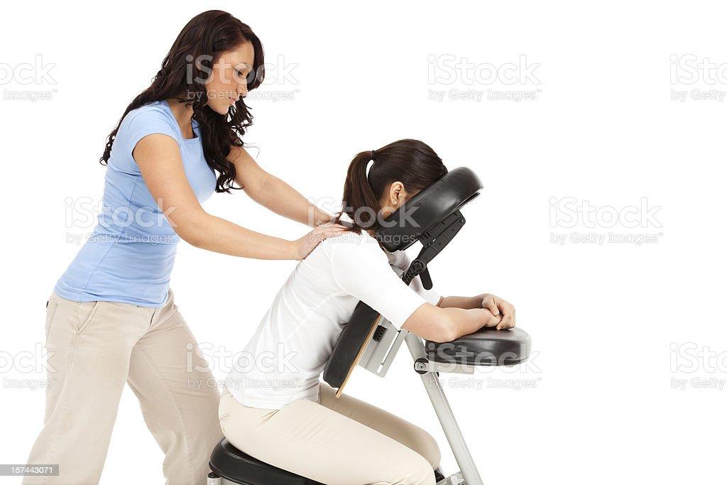 Chair Massage  20-29 Years Stock Photo