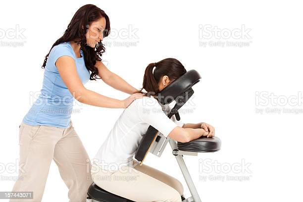 Chair Massage Stock Photo - Download Image Now