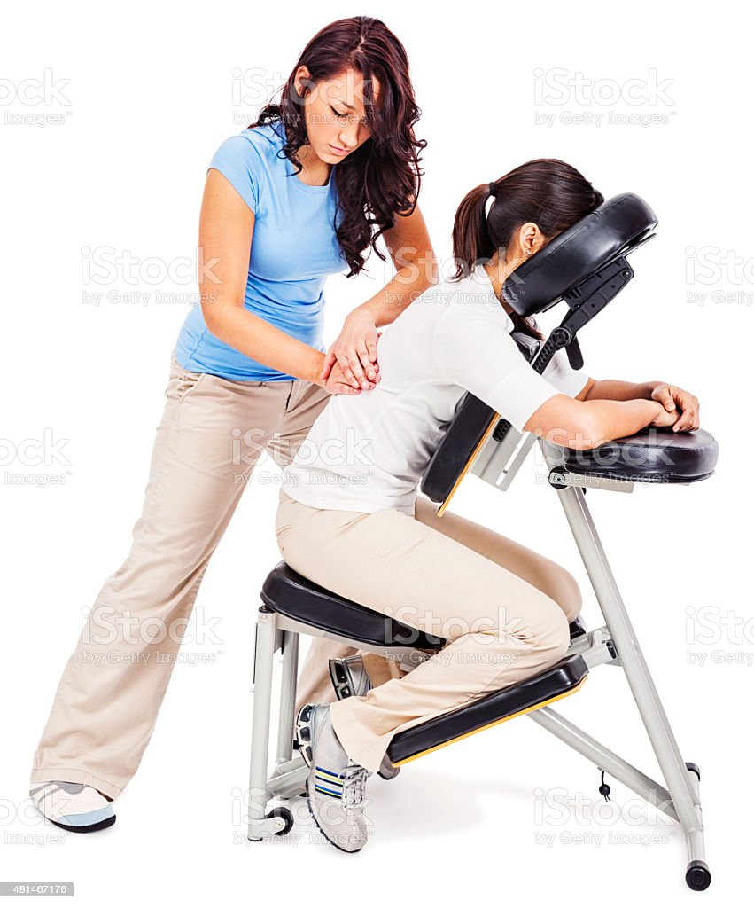 chair massage. chair massage royalty-free stock photo n