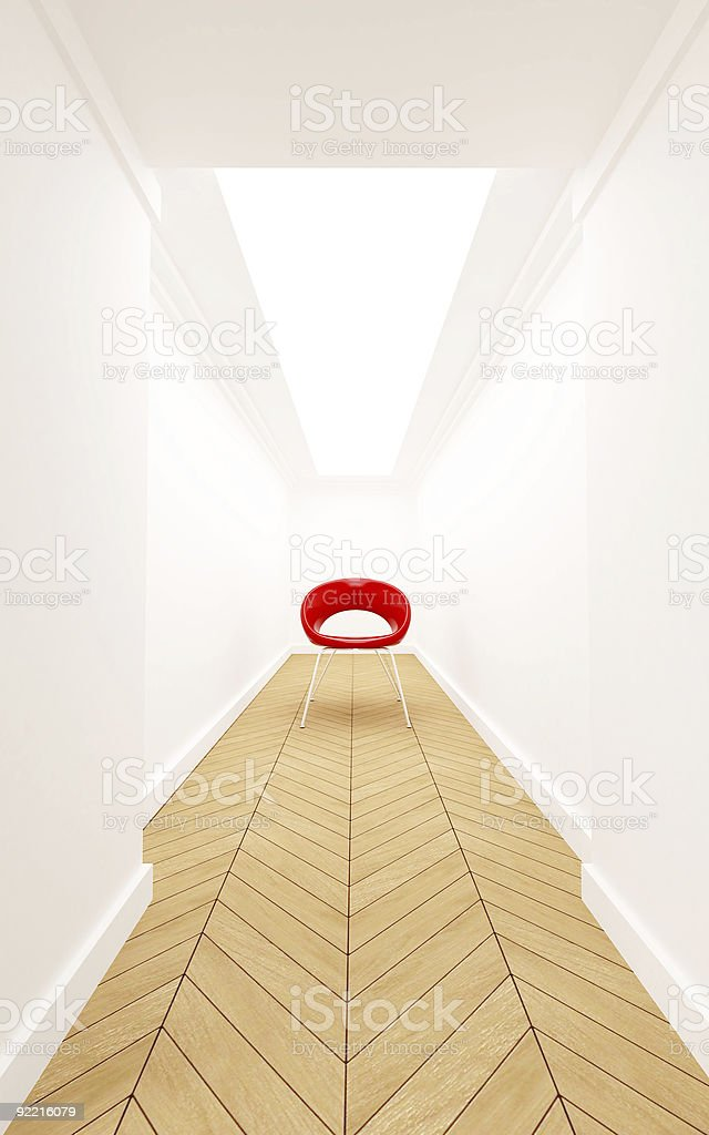 Chair on a corridor royalty-free stock photo