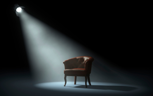 Chair On Stage Stock Photo - Download Image Now