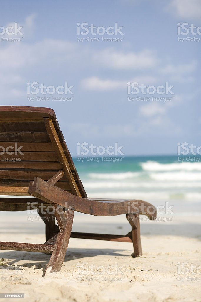 Chair over the beach royalty-free stock photo