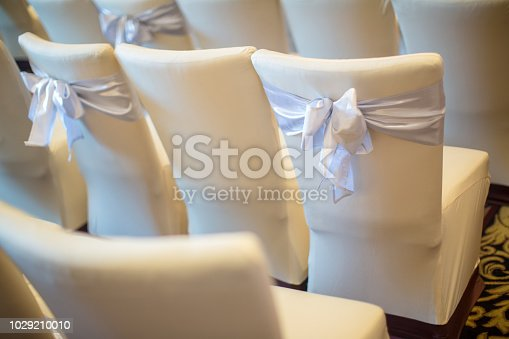 istock chair set for wedding or another catered event dinner.  wedding chair decoration. 1029210010