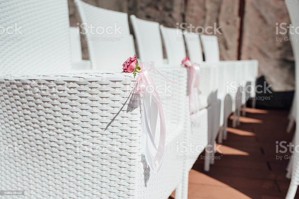 chair set for wedding or another catered event royalty-free stock photo