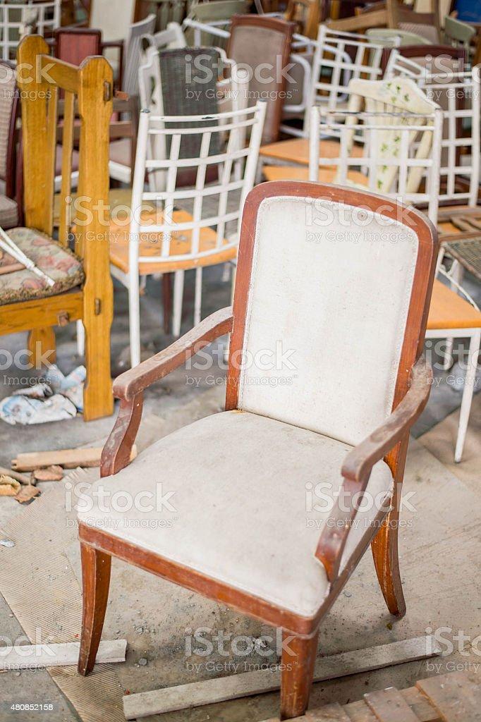 Chair tomb stock photo