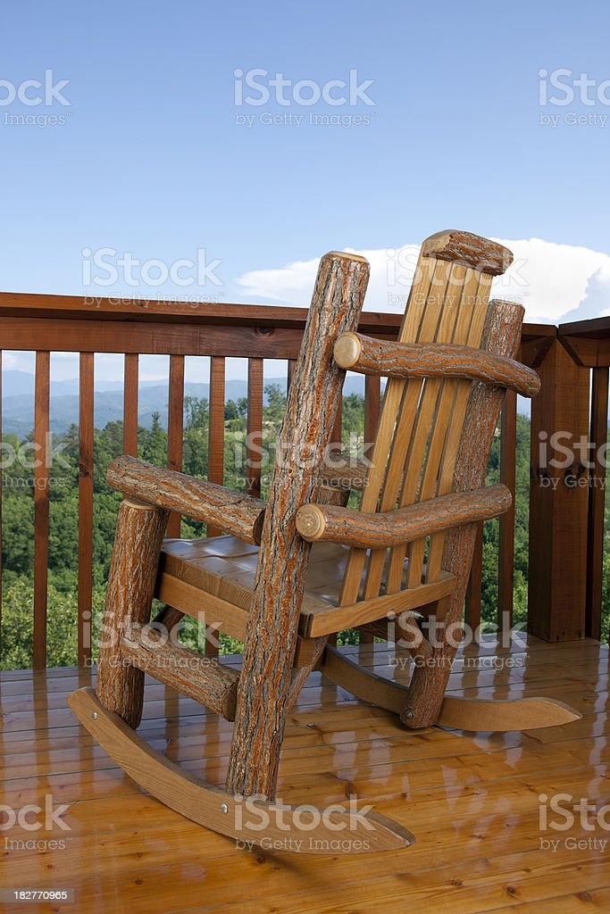 Chair with a View royalty-free stock photo