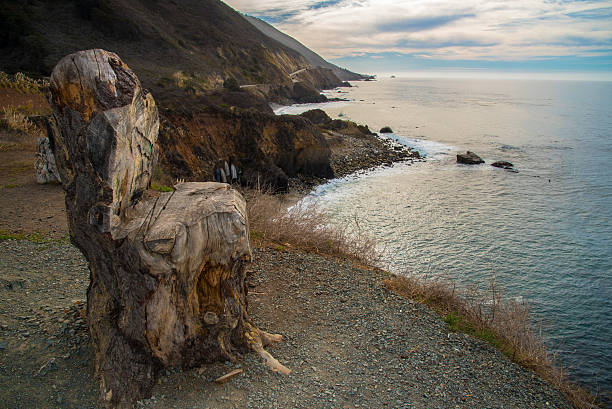 chair with a view - central coast california stock photos and pictures