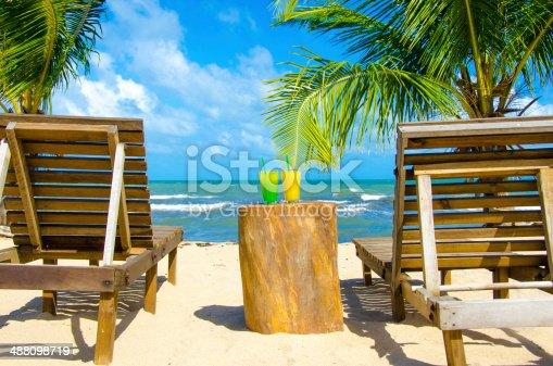 White beach on beautiful island