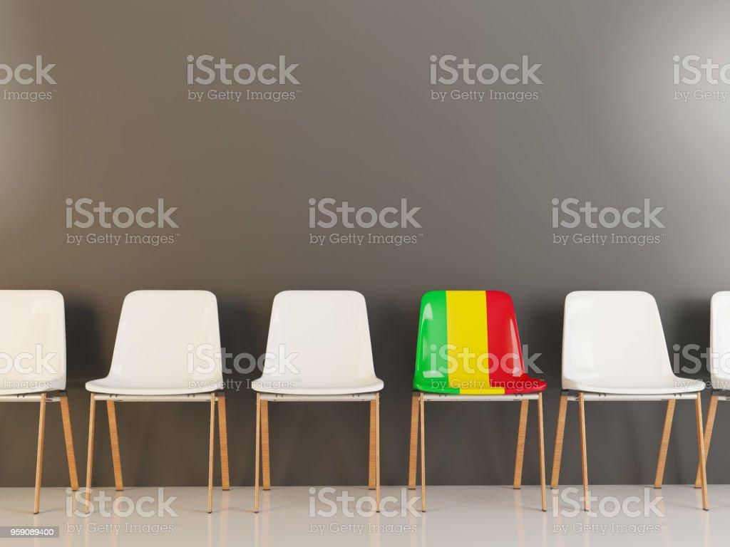 Cadeira com bandeira do mali - foto de acervo