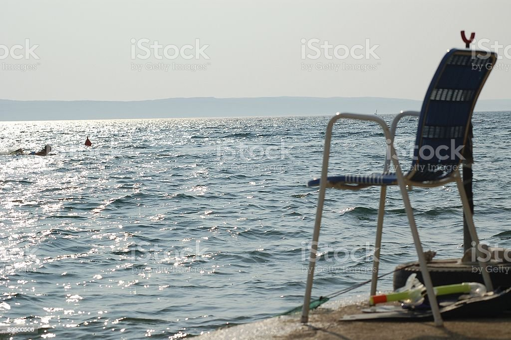 Chair with Ocean View royalty-free stock photo