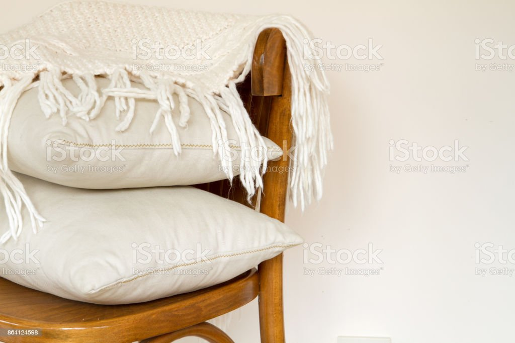 chair with pillows royalty-free stock photo