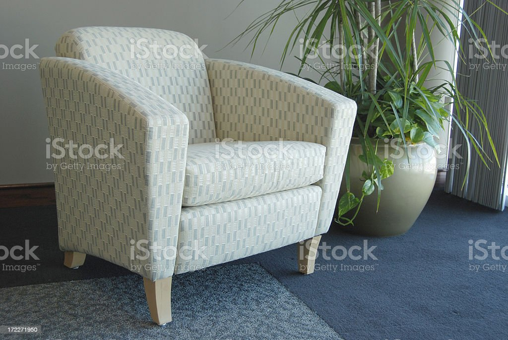 Chair with plant royalty-free stock photo