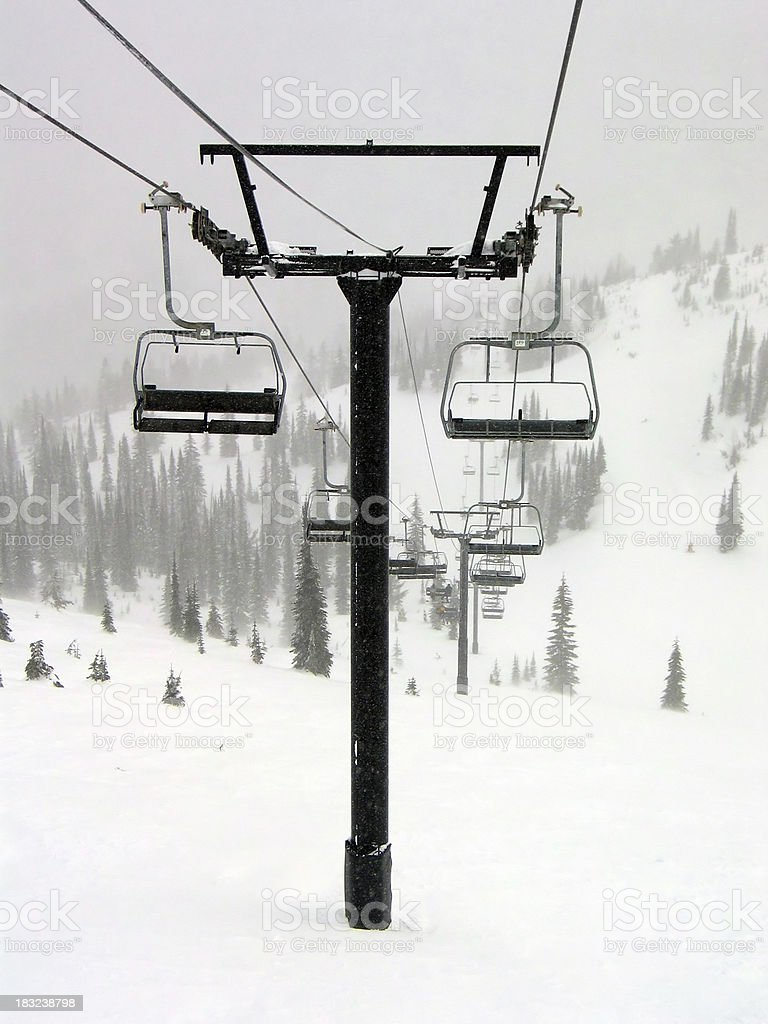 Chairlift 1 stock photo