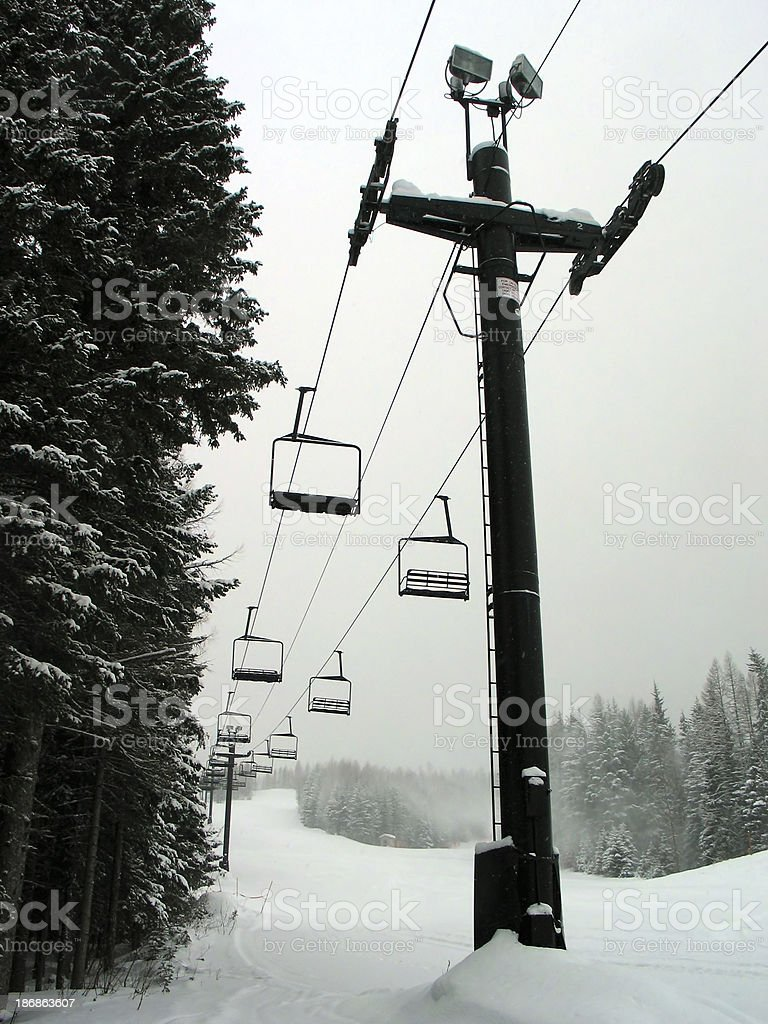 Chairlift 4 stock photo