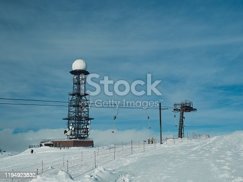 istock chairlift and radar at the Reon Horn, Rittner Horn 1194923832