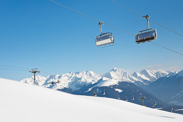 Chairlift at Ski Resort in the Alps