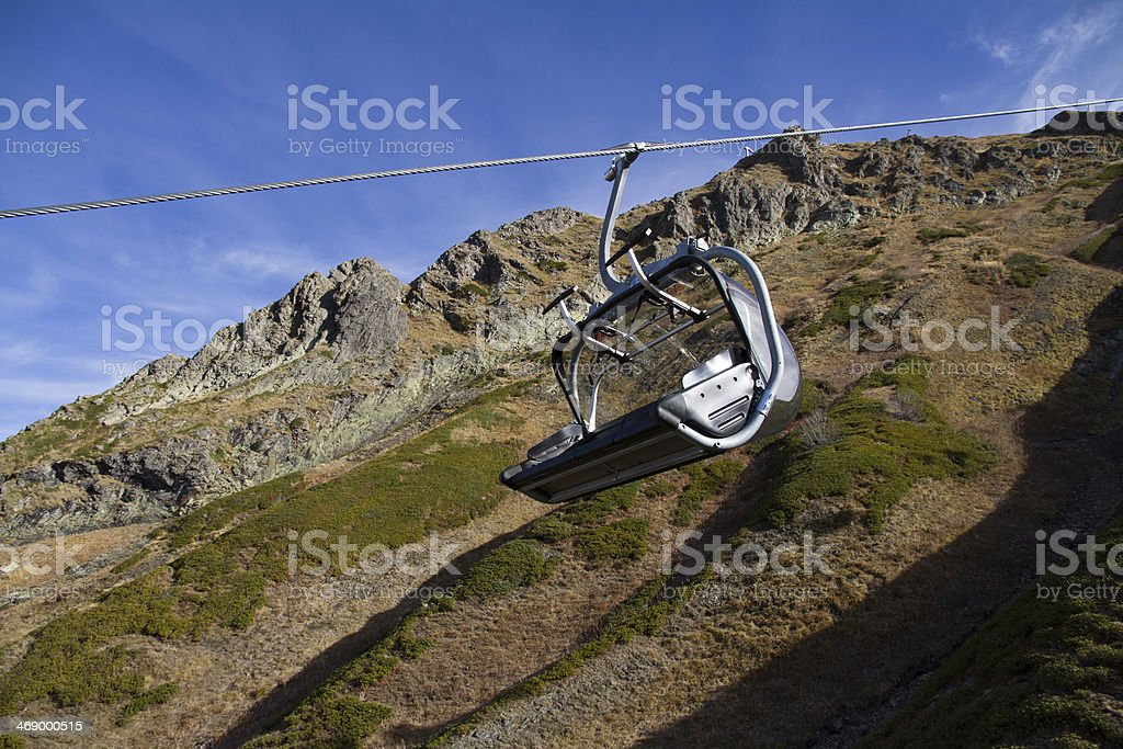 chairlift in mountains of Krasnaya Polyana royalty-free stock photo