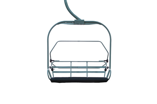 Chairlift isolated on a white background