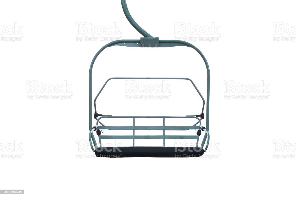 Chairlift isolated on a white background stock photo