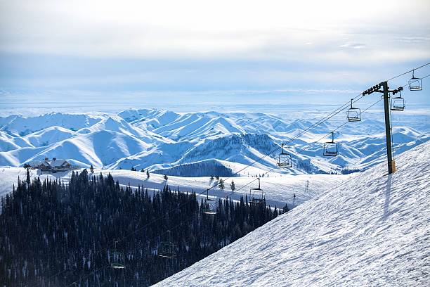 Chairlift - Sun Valley, Idaho stock photo
