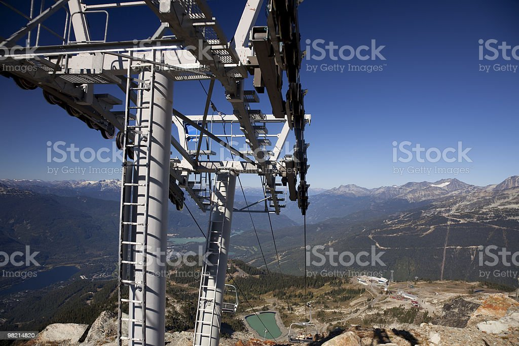 Chairlift tower. royalty-free stock photo