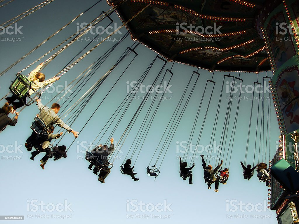 Chairoplane 2 stock photo