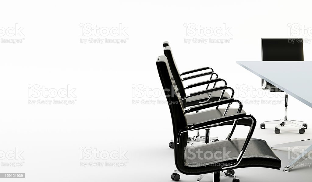 Chairs and office table royalty-free stock photo