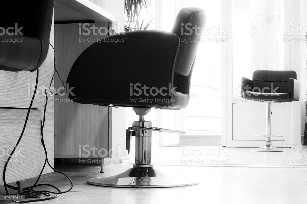 Chairs and other utensils for hair stock photo