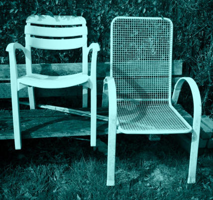 Chairs and tables.