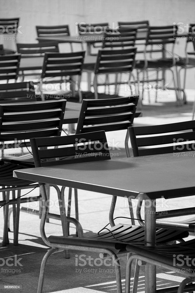 의자 및 테이블 royalty-free 스톡 사진