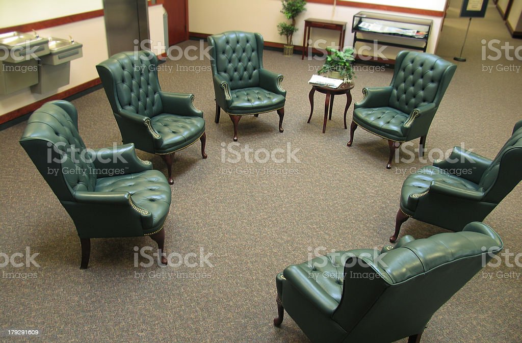 Chairs Arranged For A Meeting royalty-free stock photo