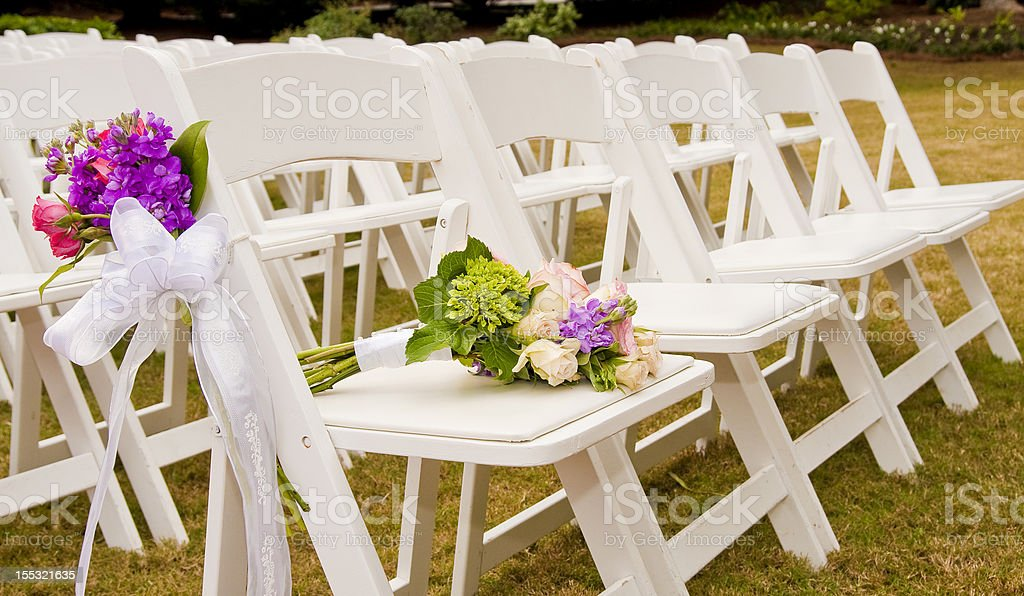 Chairs at a Wedding stock photo
