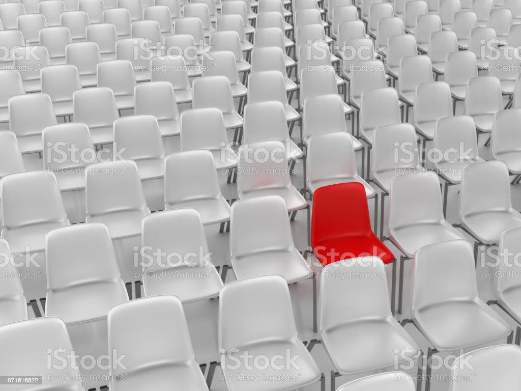 Chairs Audience - 3D Rendering stock photo