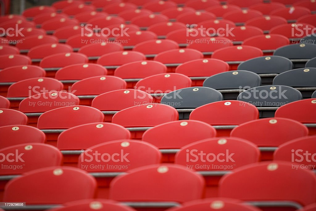Chairs before a match. royalty-free stock photo