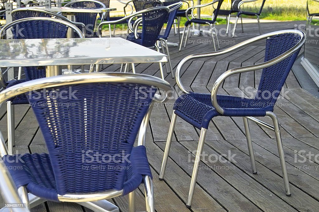 chairs in a caffee royalty-free stock photo