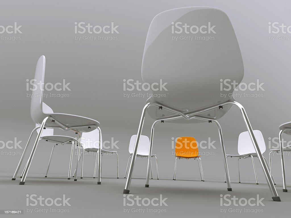 chairs in a circle royalty-free stock photo