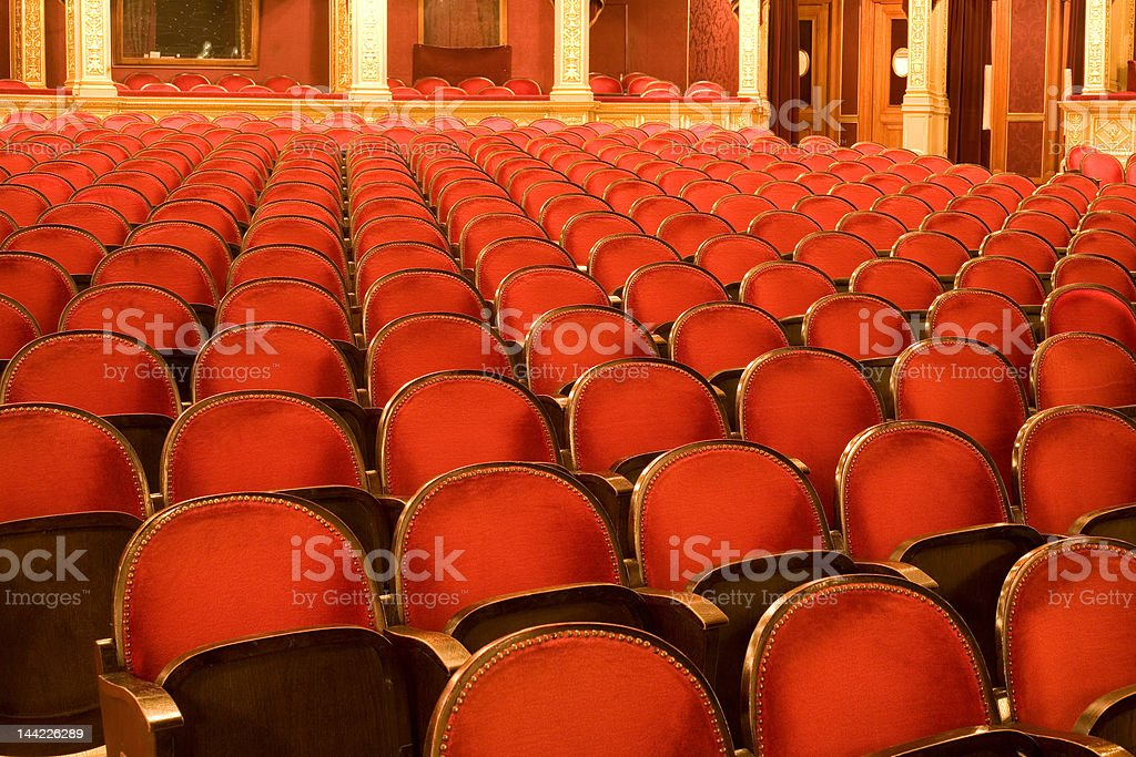 chairs in a theater royalty-free stock photo