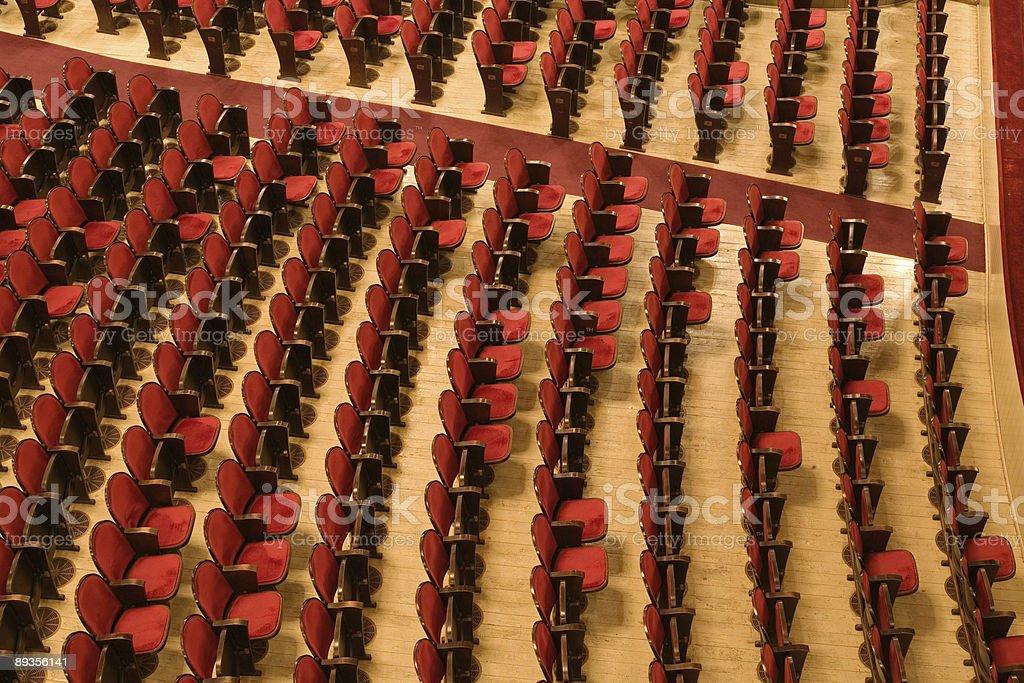 Krzesła w theater zbiór zdjęć royalty-free