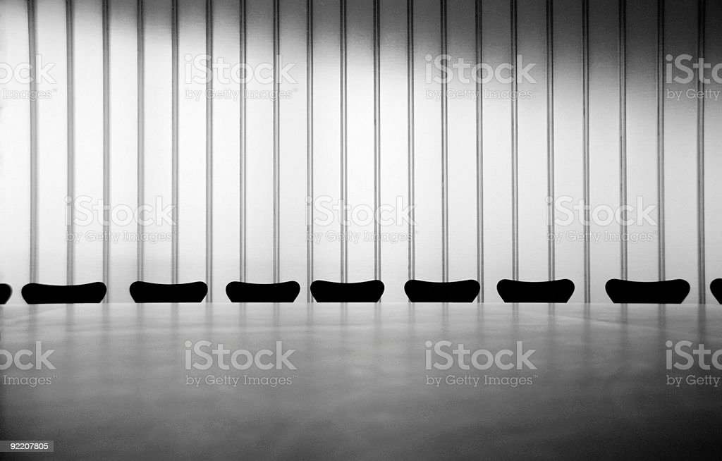Chairs in a white conference room royalty-free stock photo