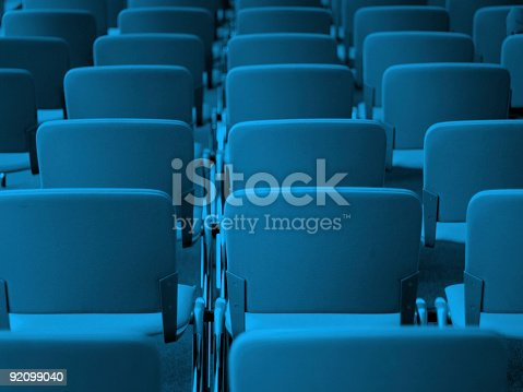 istock Chairs In Convention Center 92099040
