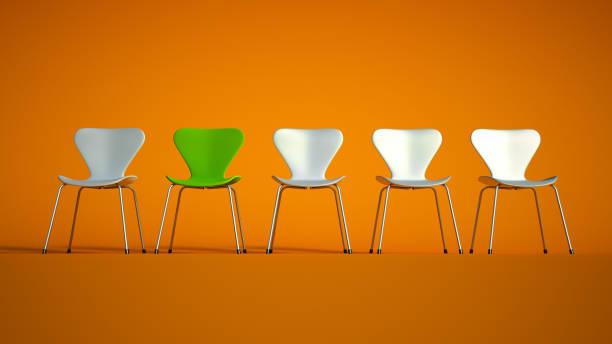 Chaises en vert et blanc - Photo