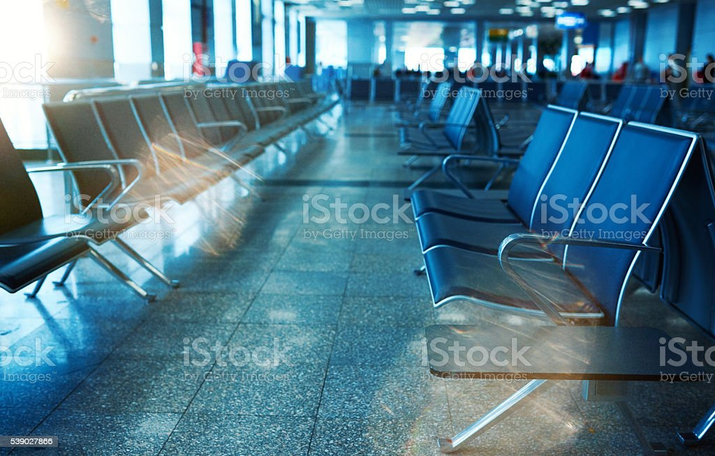 chairs in station stock photo