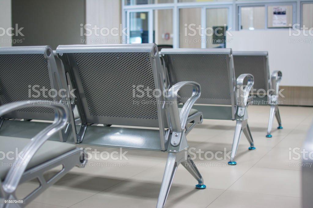 Stühle im Krankenhaus. Krankenhaus-Interieur – Foto
