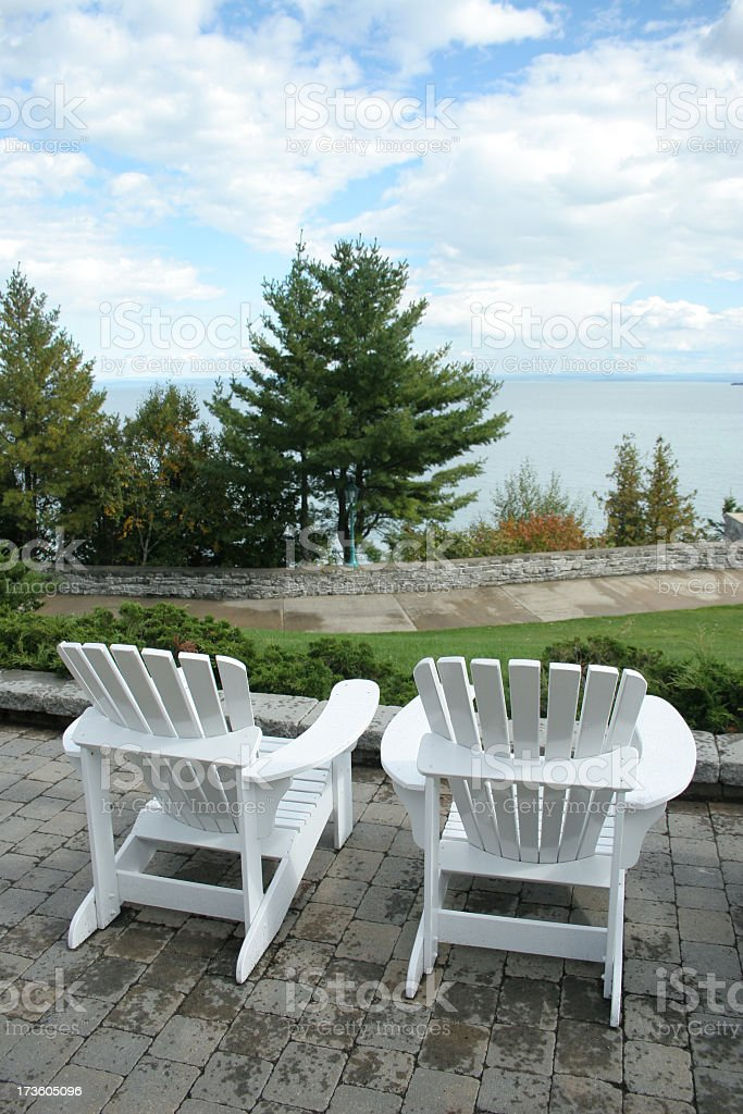 Chairs just for two royalty-free stock photo