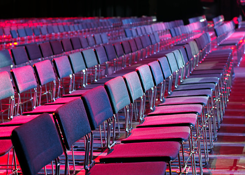 Chairs lineup in conference venue