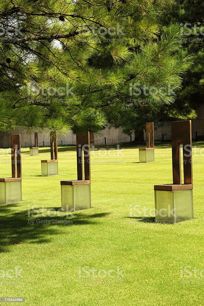 Chairs Oklahoma City National Memorial royalty-free stock photo